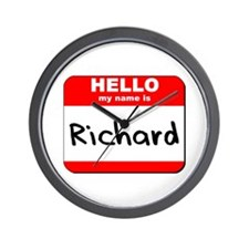 Hello my name is Richard Wall Clock