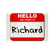 Hello my name is Richard Rectangle Magnet (10 pack