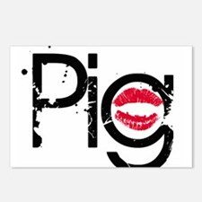 Lipstick on a Pig Postcards (Package of 8)