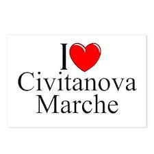 """I Love (Heart) Civitanova Marche"" Postcards (Pack"