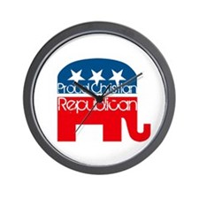 Proud Christian Republican Wall Clock