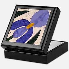 blue & purple iris Keepsake Box