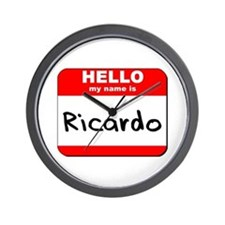 Hello my name is Ricardo Wall Clock