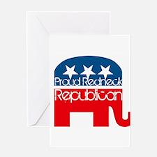 Proud Redneck Republican Greeting Card