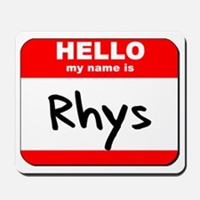 Hello my name is Rhys Mousepad