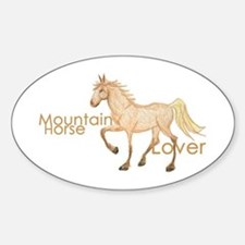 Mountain Horse Oval Decal