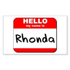Hello my name is Rhonda Rectangle Decal