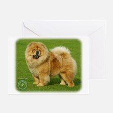 Chow Chow 9B008D-17 Greeting Cards (Pk of 10)