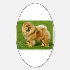 Chow Chow 9B008D-17 Sticker (Oval)