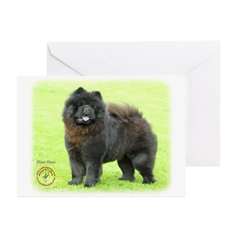 Chow Chow 9B008D-25 Greeting Cards (Pk of 10)