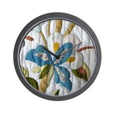 Carol's Floral Applique Wall Clock