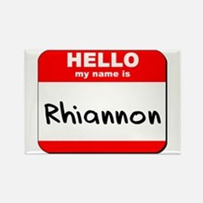 Hello my name is Rhiannon Rectangle Magnet
