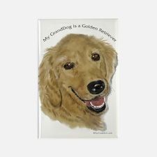 Golden Retriever GrandDog Rectangle Magnet (100 pa