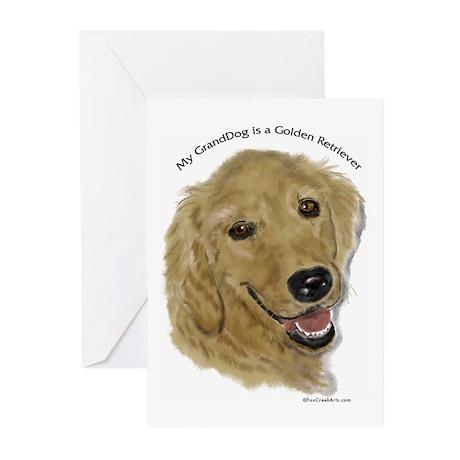 Golden Retriever GrandDog Greeting Cards (Pk of 10