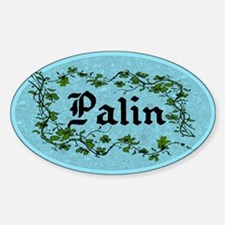 Palin Climbing Ivy Unique Oval Decal