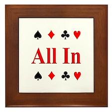 All In Diamond Spade Club Hea Framed Tile