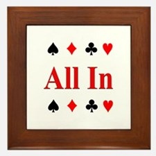 All In Diamond Spade Club Hea Framed Tile