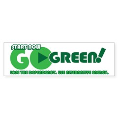 Go Green! Bumper Bumper Sticker