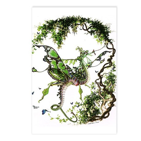 Garden Dragon Postcards (Package of 8)