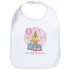 Teddy Bear Birthday 1st Bib