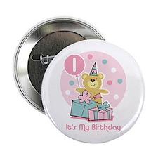 "Teddy Bear Birthday 1st 2.25"" Button"