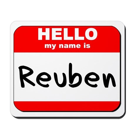 Hello my name is Reuben Mousepad