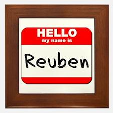 Hello my name is Reuben Framed Tile