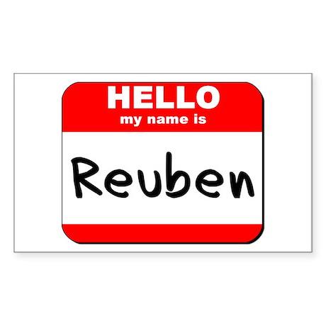 Hello my name is Reuben Rectangle Sticker