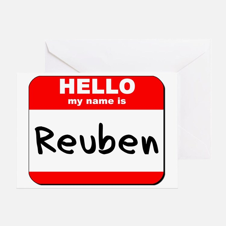 Hello my name is Reuben Greeting Card