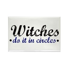 Witches do it in Circles Rectangle Magnet