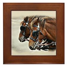 Carriage Horse Framed Tile