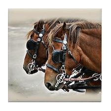 Carriage Horse Tile Coaster