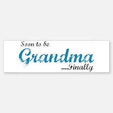 Soon to be Grandma Bumper Bumper Bumper Sticker