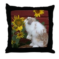 Unique Jersey wooly rabbit Throw Pillow
