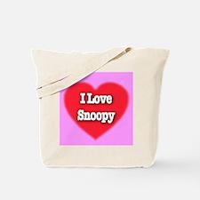 I Love Snoopy Tote Bag