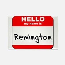 Hello my name is Remington Rectangle Magnet