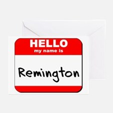 Hello my name is Remington Greeting Cards (Pk of 1