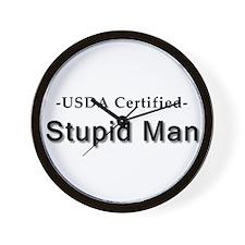USDA Certified Stupid Man Wall Clock