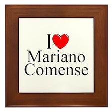 """I Love (Heart) Mariano Comense"" Framed Tile"