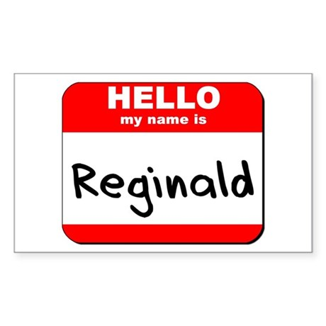 Hello my name is Reginald Rectangle Sticker