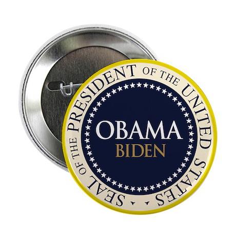 """Obama-Biden Seal Ring 2.25"""" Button (10 pack)"""
