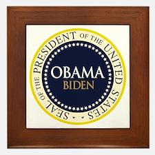 Obama-Biden Seal Ring Framed Tile