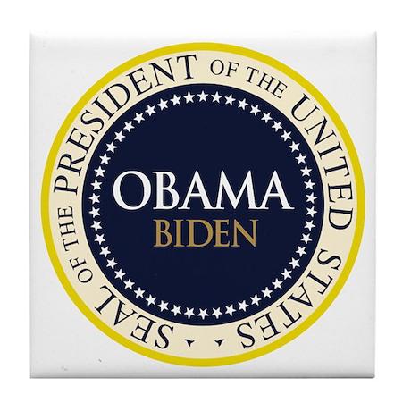 Obama-Biden Seal Ring Tile Coaster