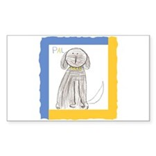Be a Pal Rescue Dog Rectangle Decal