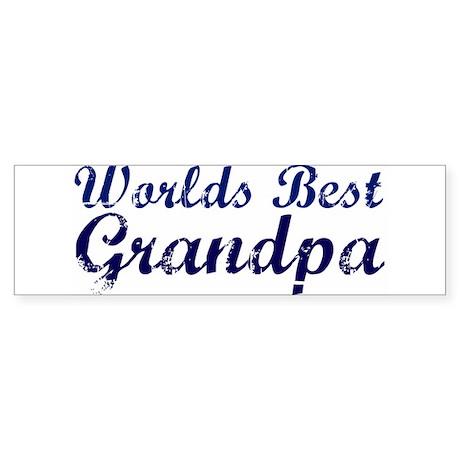 Worlds Best Grandpa Bumper Sticker