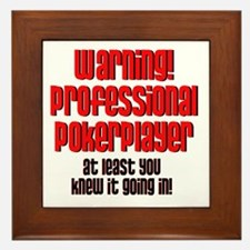 Pro Poker Player! Framed Tile