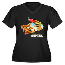 Pistol-Packin' Palin Women's Plus Size V-Neck Dark