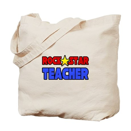 """Rock Star Teacher"" Tote Bag"