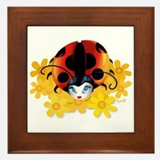 Pretty Ladybug Framed Tile