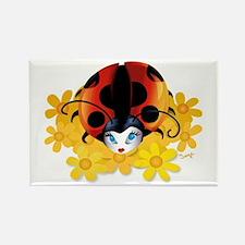 Pretty Ladybug Rectangle Magnet